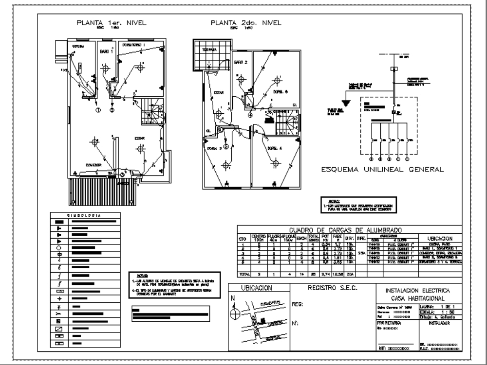 residential electric field plan in autocad