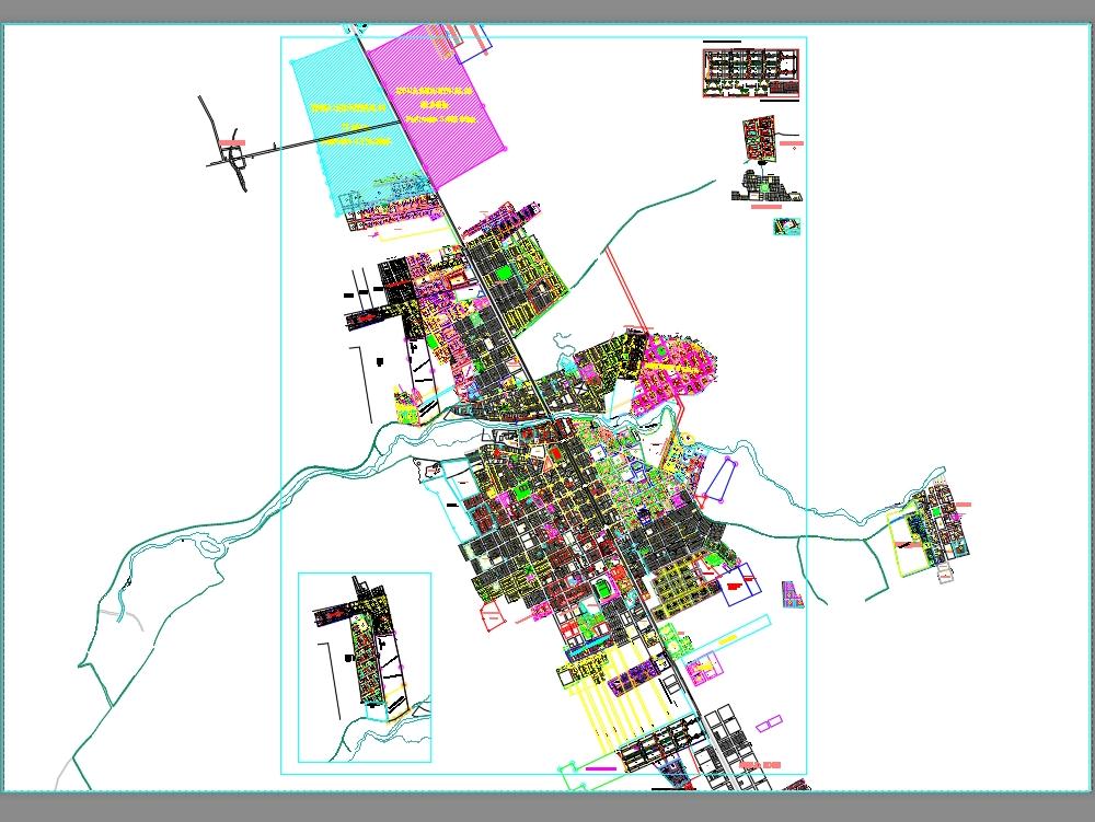 Plano de la ciudad de nueva cajamarca; san martin peru