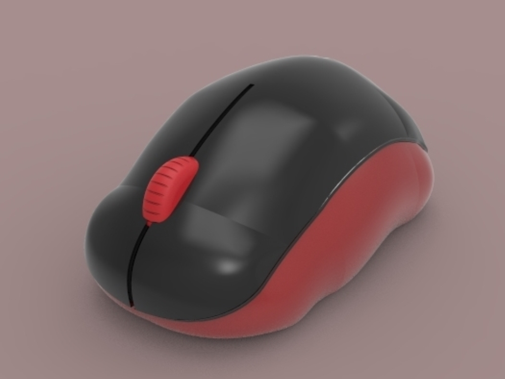 Diseño de ratón de computadora 3D (skp; 3ds; 3dm)
