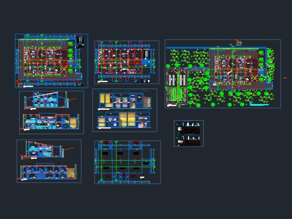 Planos de arquitectura de un laboratorio