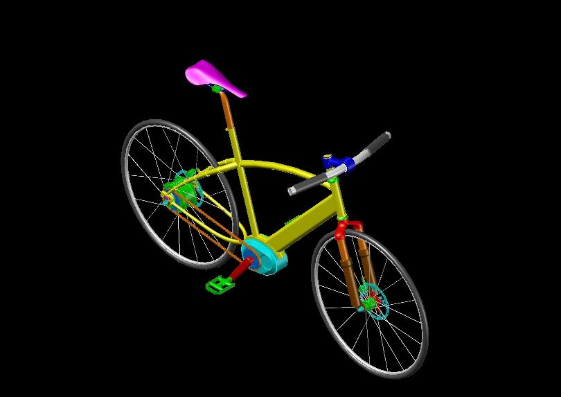 Mountain bike in three dimensions
