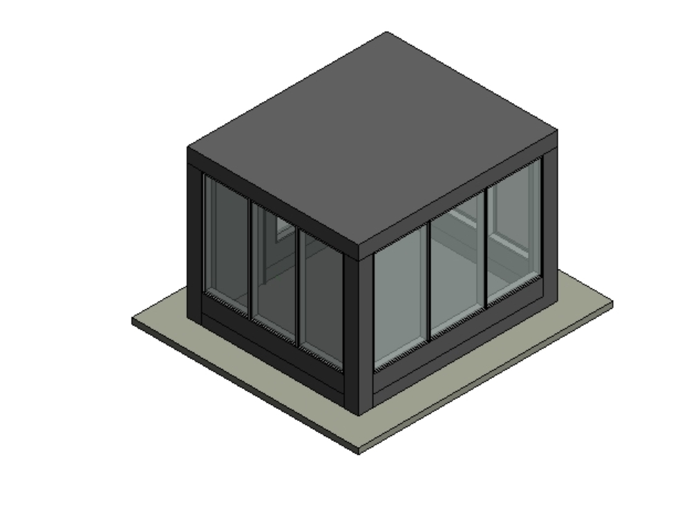 Surveillance booth in revit 2019 3d