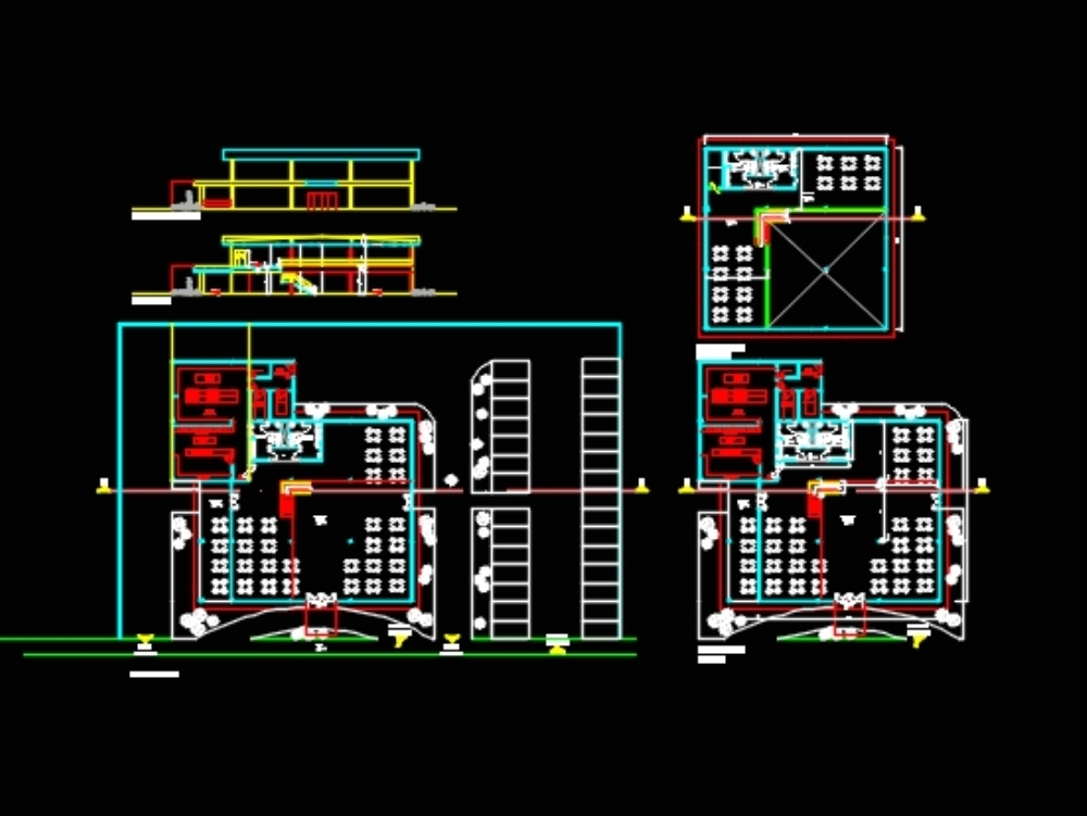 Restaurant design; with industrial kitchen