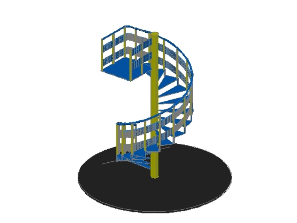 3d rotating stairway in autocad 2015