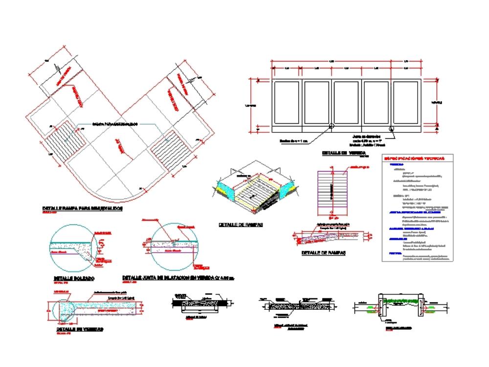 Design sidewalks and urban ramps