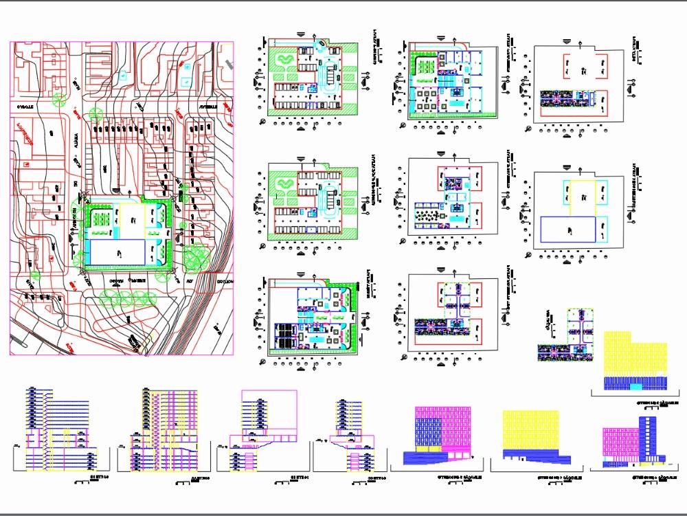 Proyecto de edificio multifuncional (híbrido)