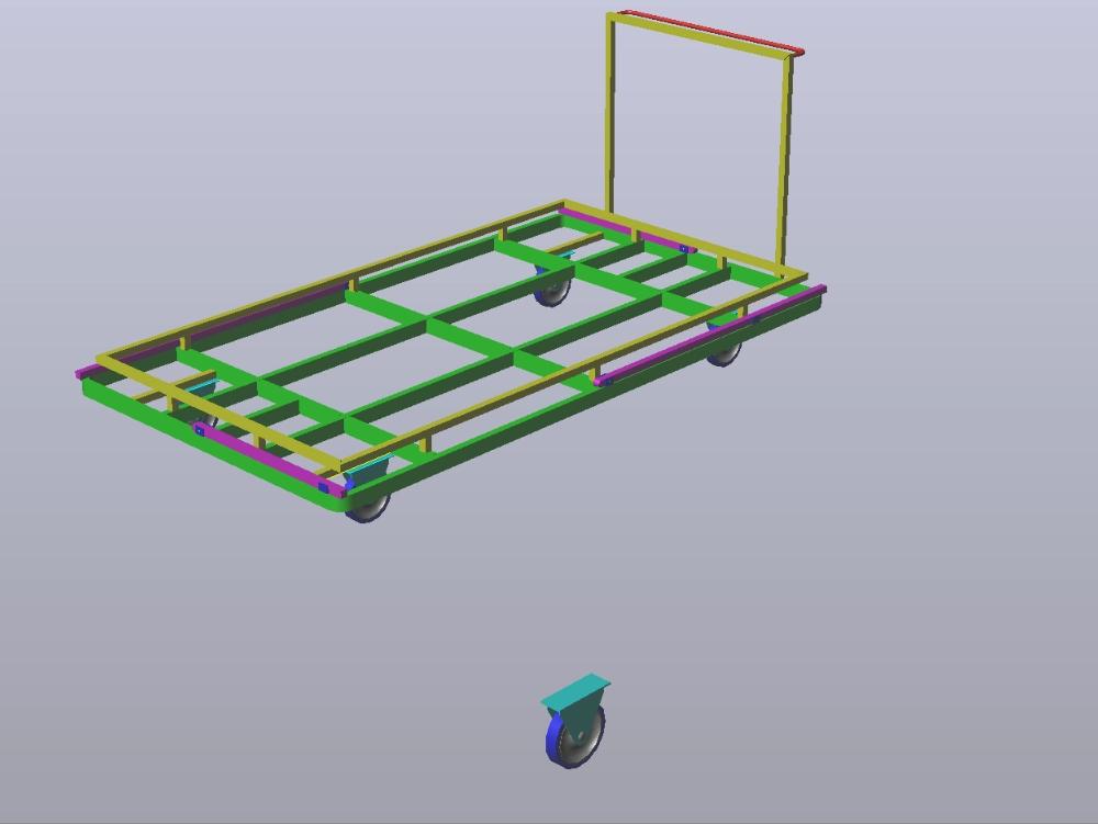 Pallet platform for pallets 3d