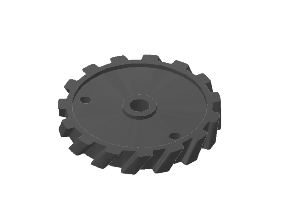 Helical gear for autocad 3d machinery