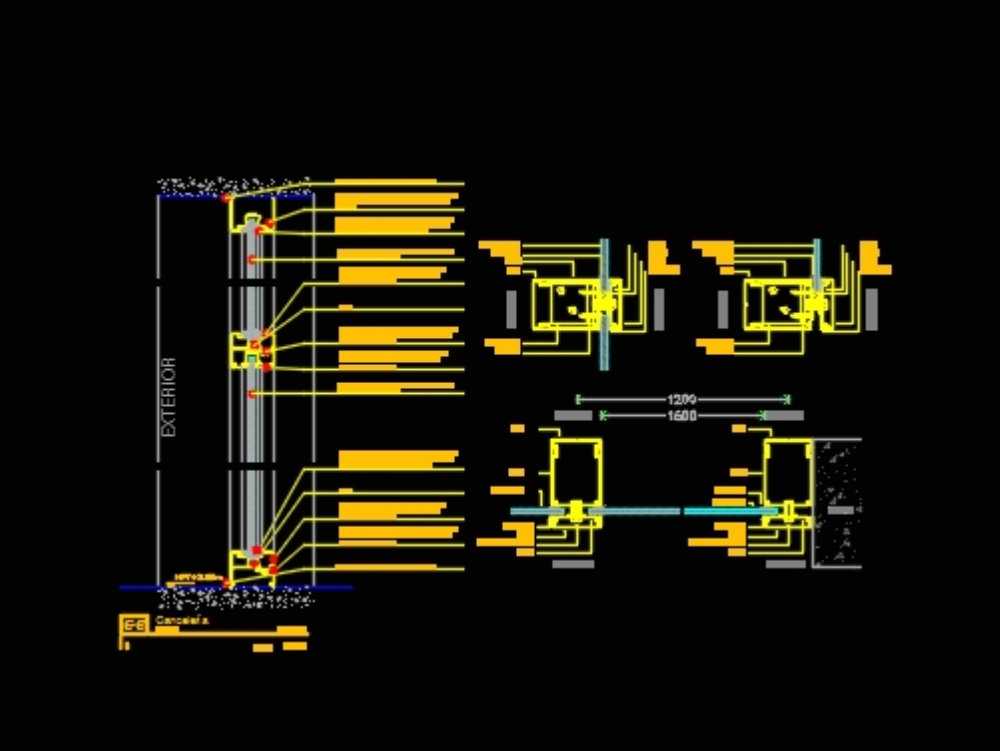 Canceling eurovent classic 70 curtain wall dwg