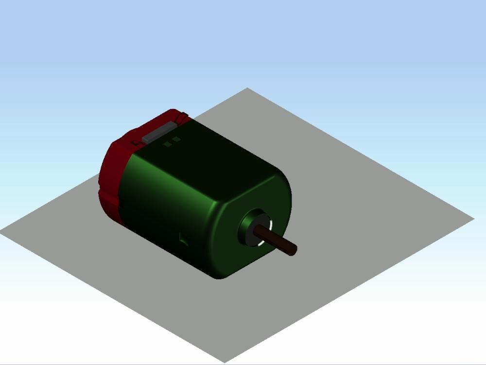 Dinamo 3d; single low voltage motor