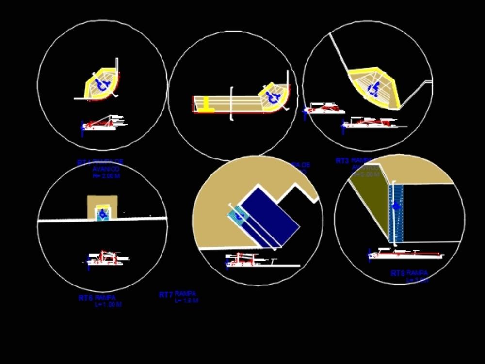 Accesibilidad podotactil rampas  movilidad
