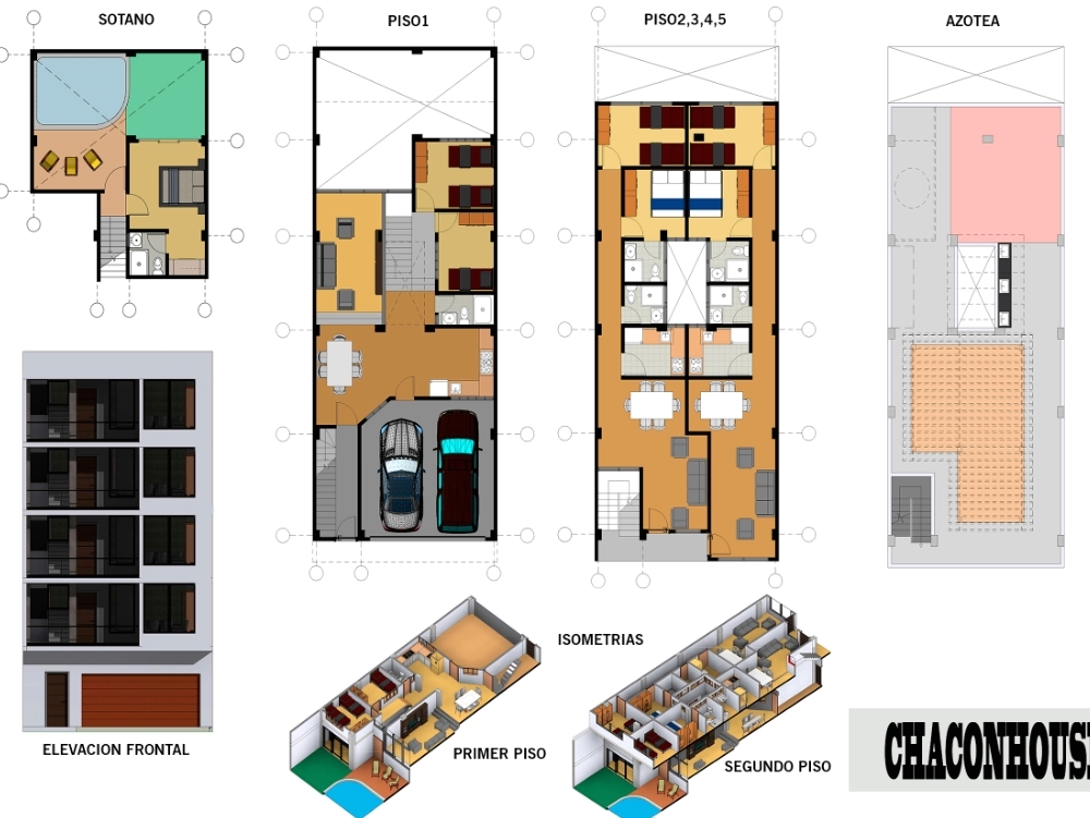 Multifamily housing of 5 floors.