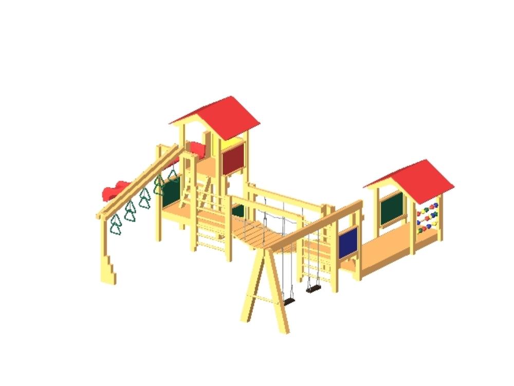 Playground o área de juegos para niños