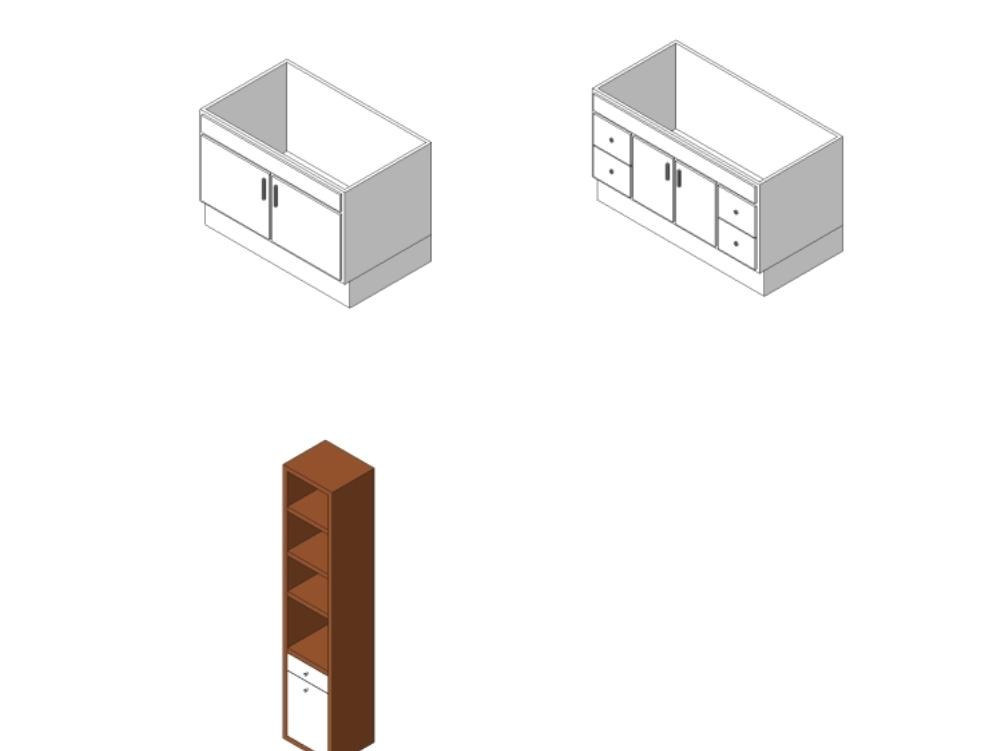 Muebles de cajon familia revit