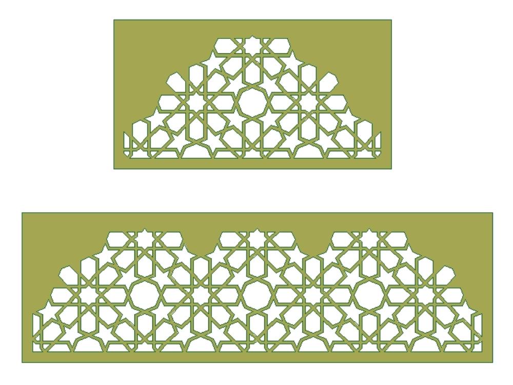Islamic architecture geometry pattern