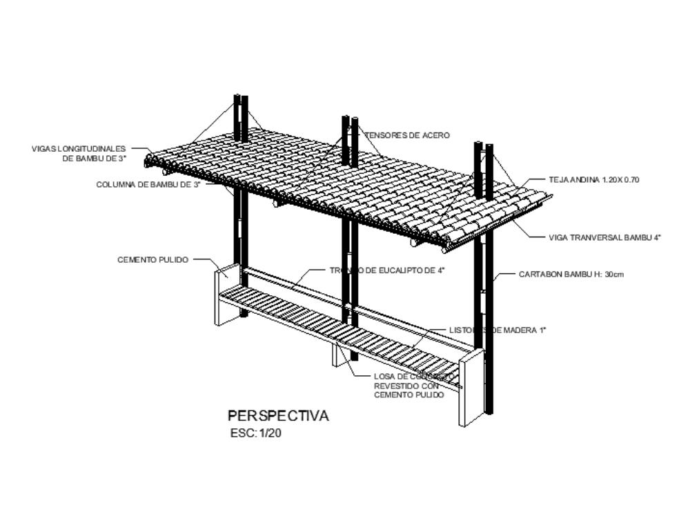Detalle de equipamiento - plazuela