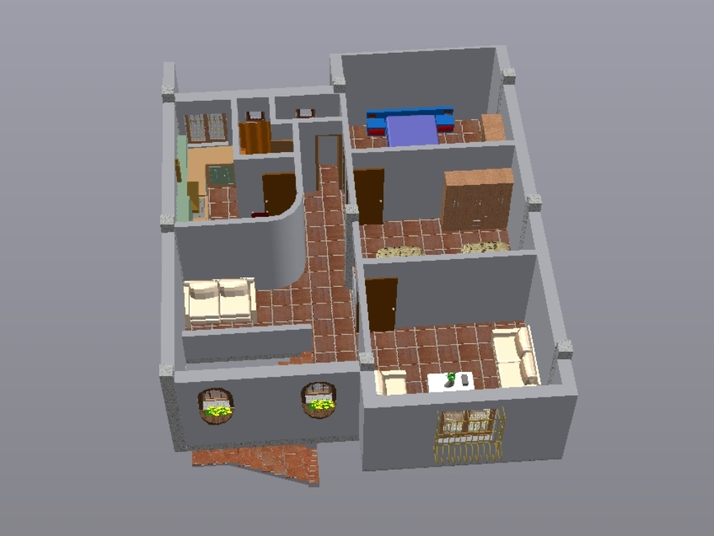 plan appartement en dwg