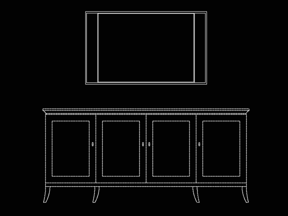 Mueble auxiliar y muebles; estantes