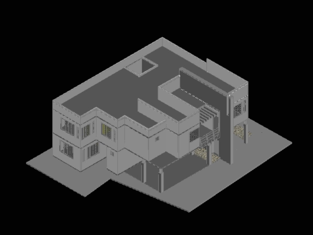 House and facade in 3d