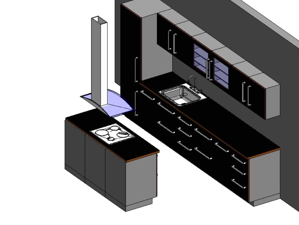 Mobiliarios de cocina a utilizar en revit