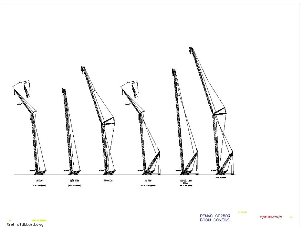 Raupenkran Demag cc2500 Autocad Zeichnung