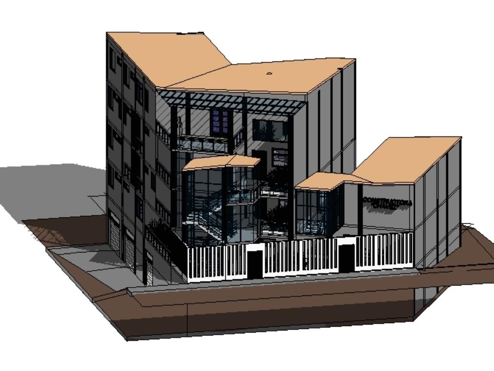 Edificio de una constructora y mutifamiliar