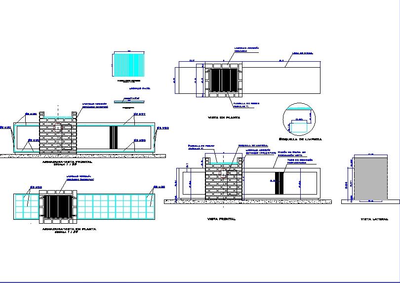 Churrasquera y meson de ladrillo arquitectonico