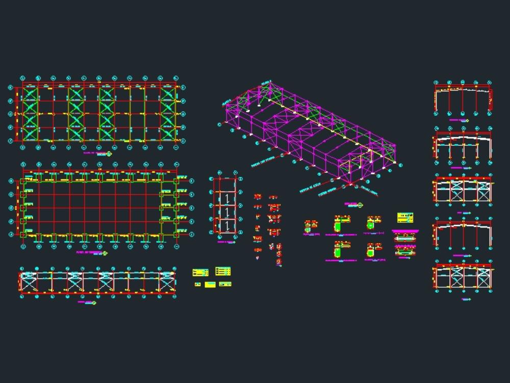 Construcción de nave metálica