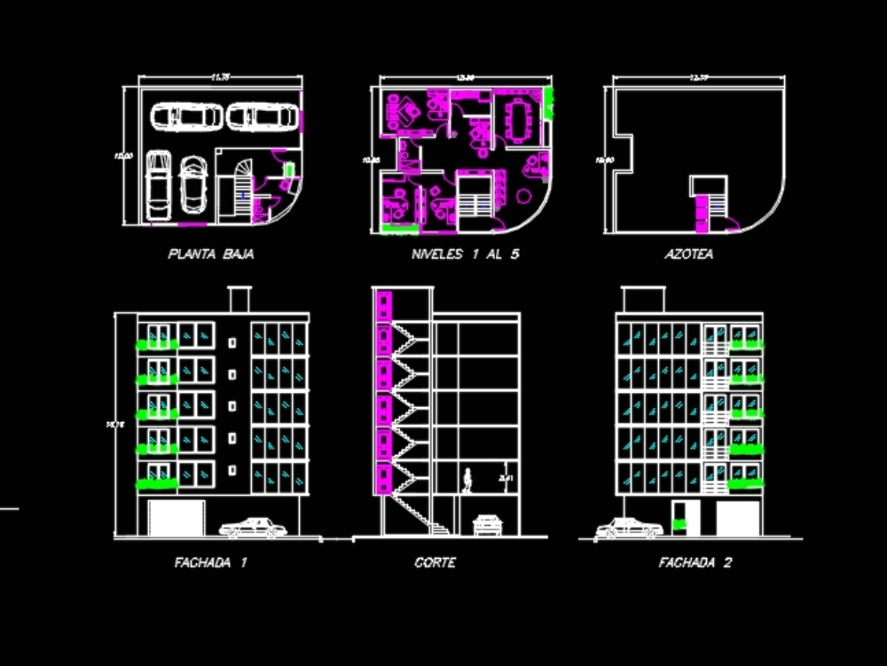 Architectural floor office building