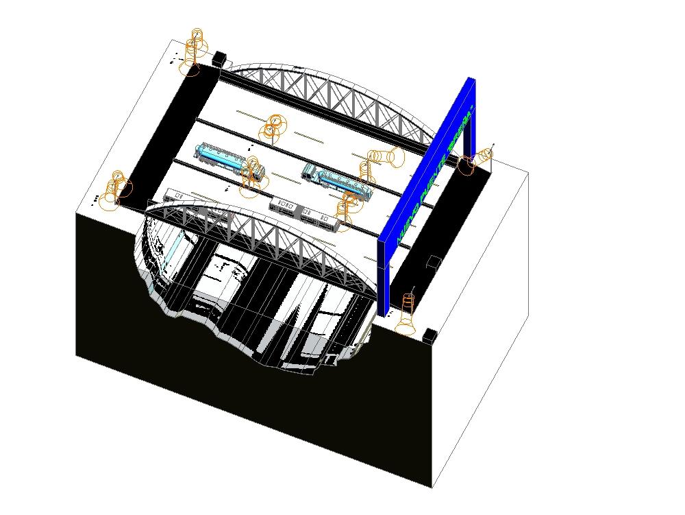 Sección de puente en tercera dimensión.