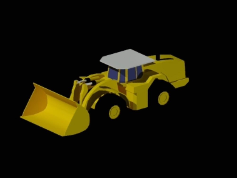 Camión minero de bajo perfil utilizado en minería subterranea