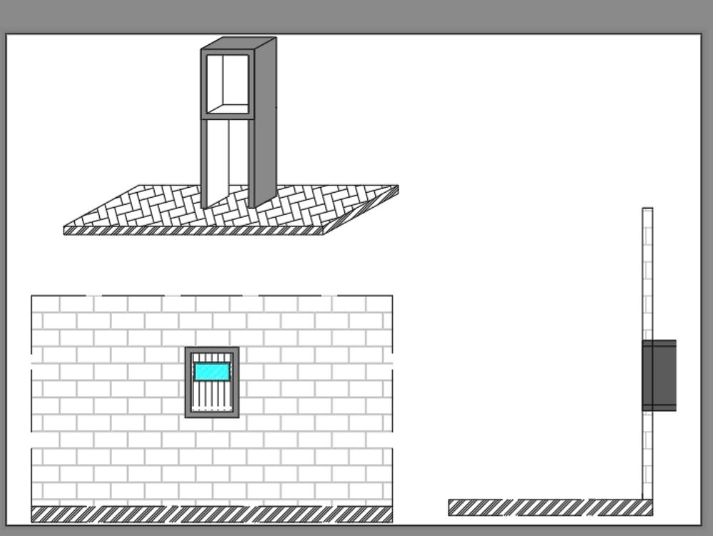 Three-phase meter house