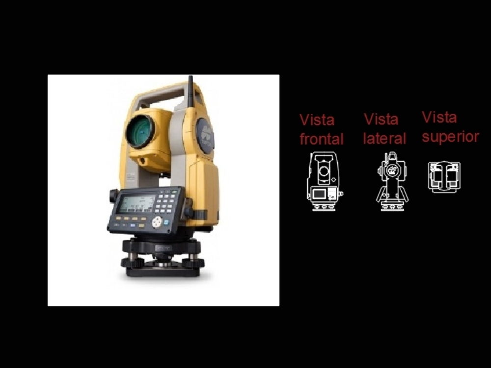 Total station orthogonal solid views