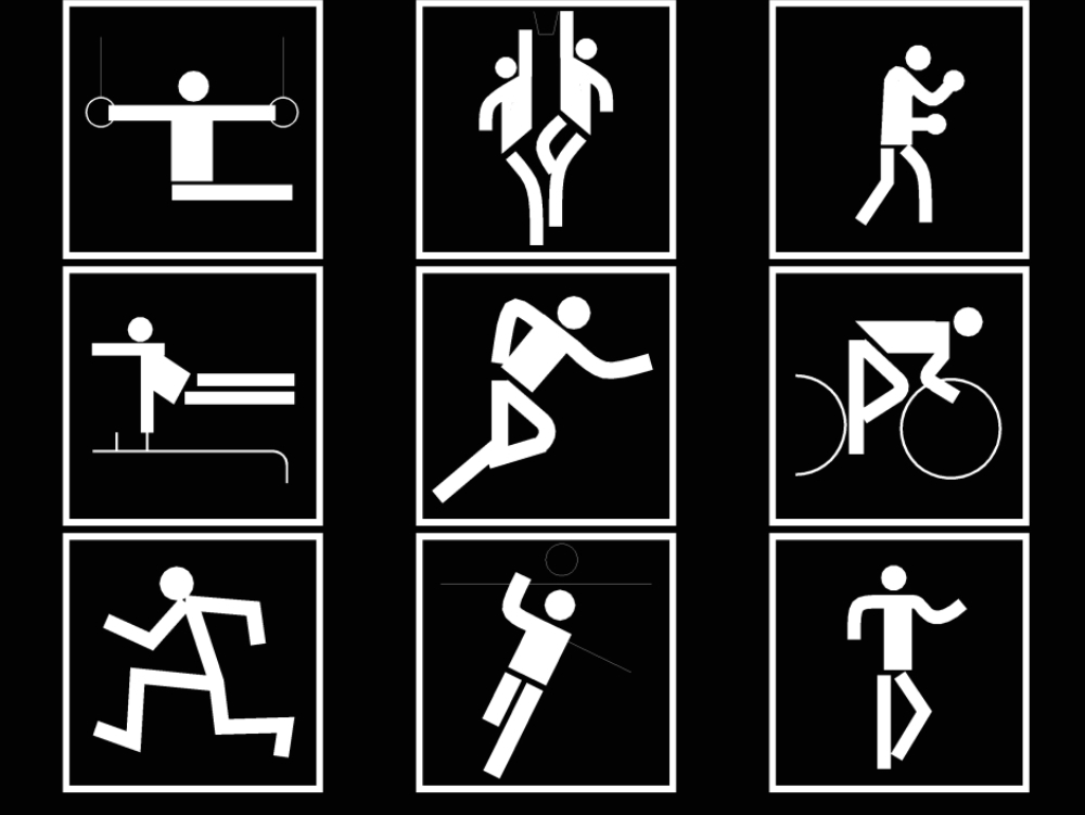 Deportes distintas señaliticas