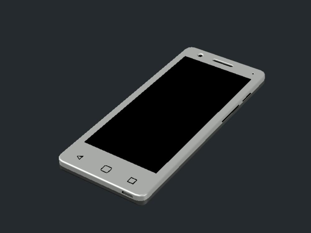 Móvil celular realizado en 3 dimensiones