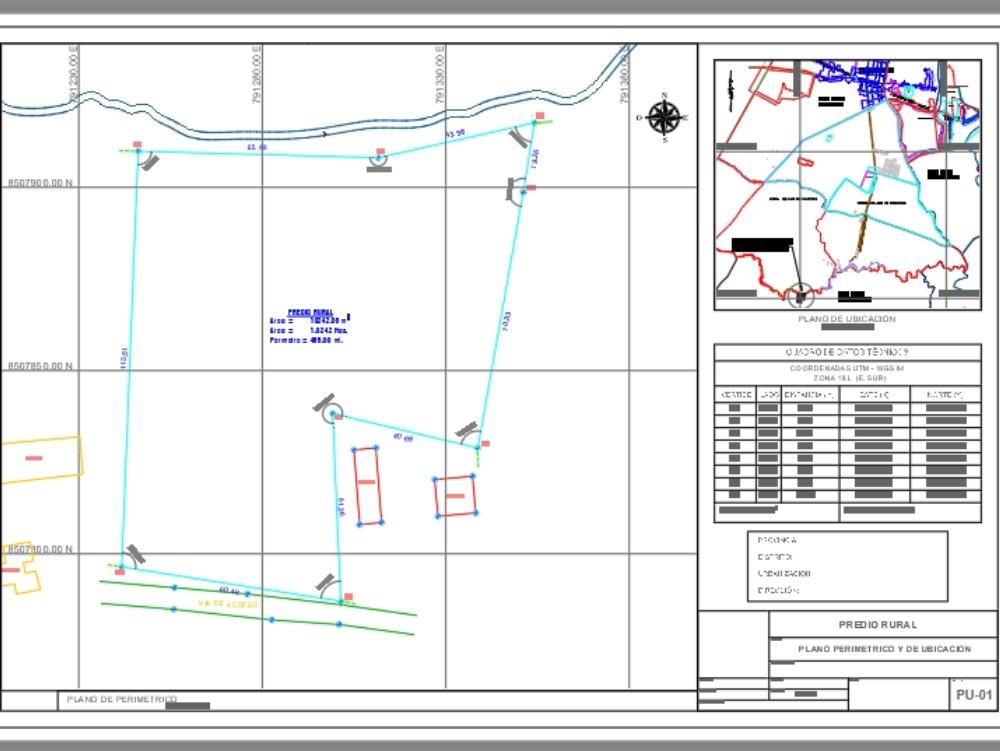 Perimetric plane; location and location