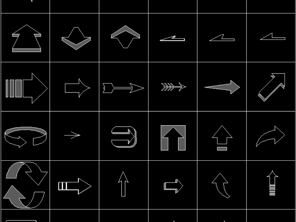Normal simple arrows in AutoCAD | CAD download (102 17 KB