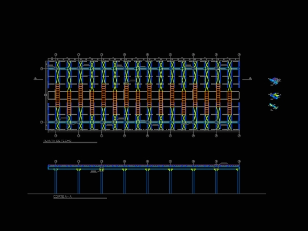 Design of metal structures in frame generator.