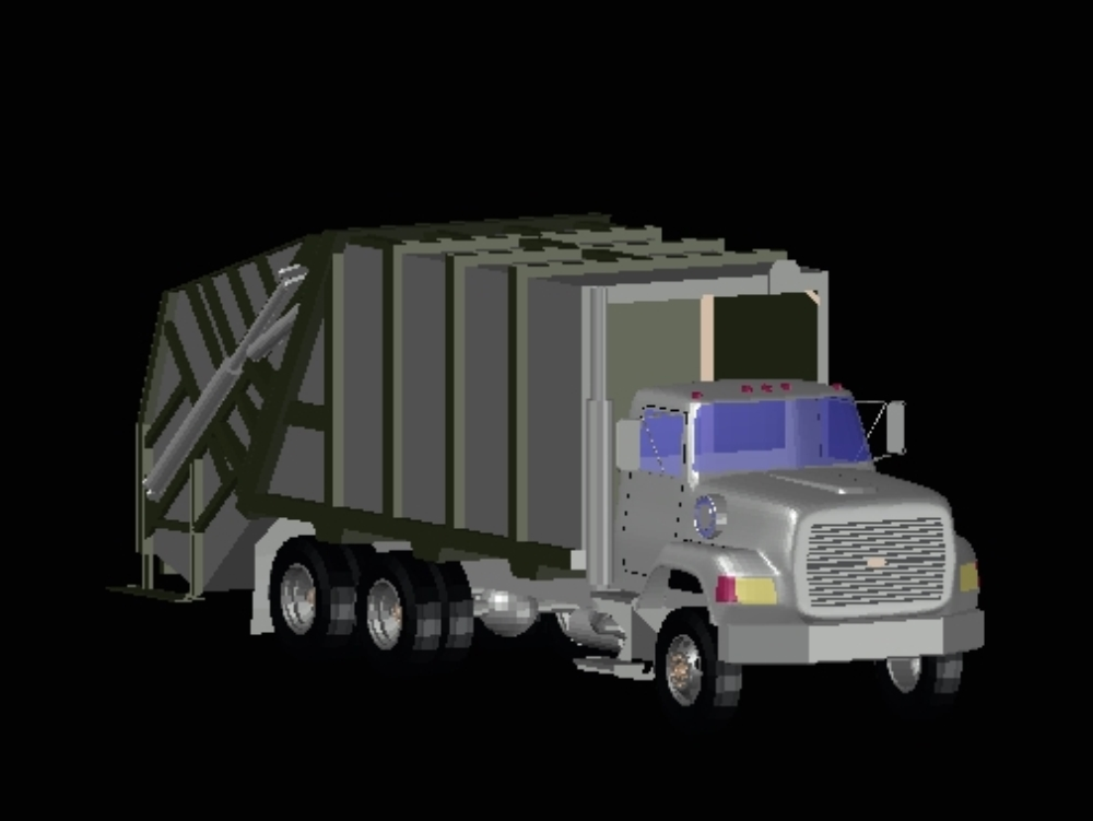 Truck garbage collector public services