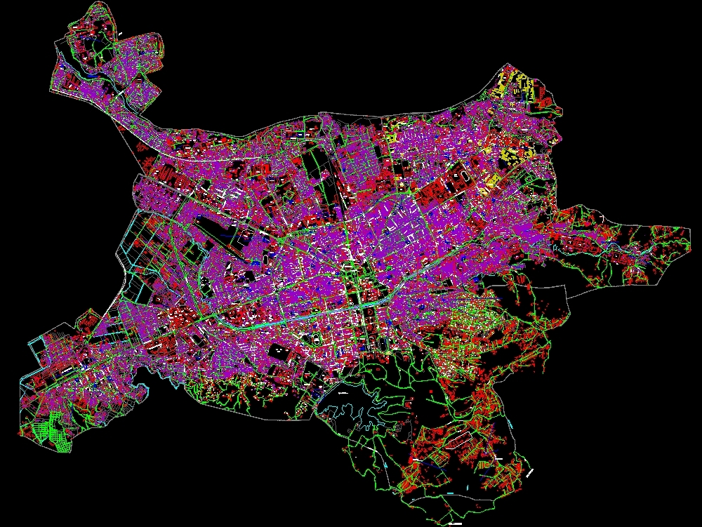 Tirana; map albania; 2016 autocad.