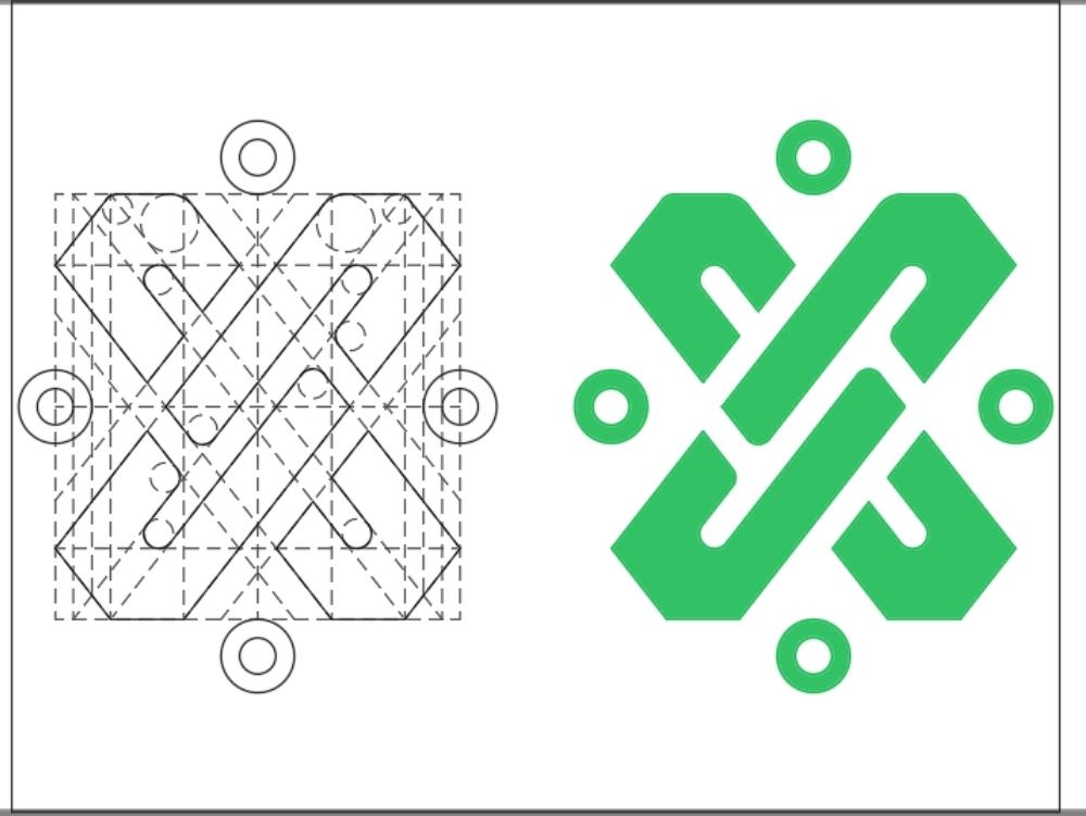 Stroke of the new mexico city logo