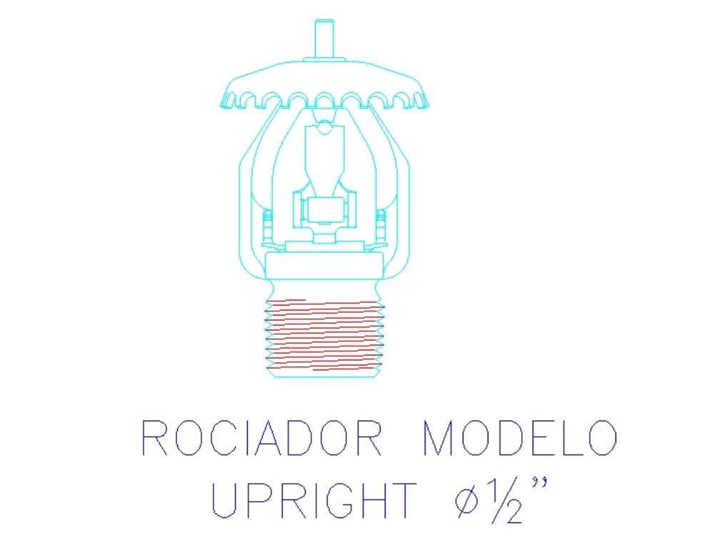 Rociador modelo upright medina yactayo jesus