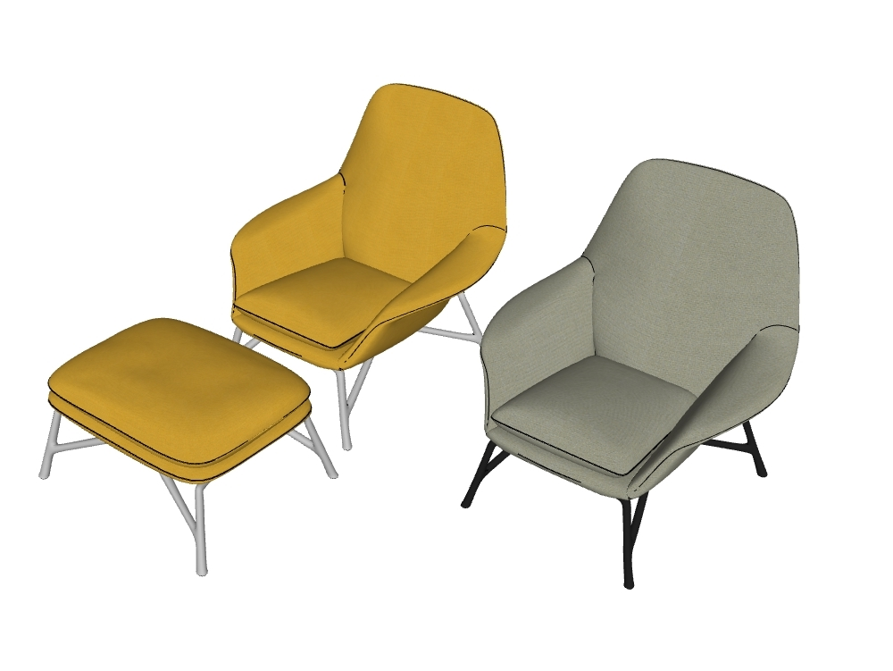 Modern and colorful chairs