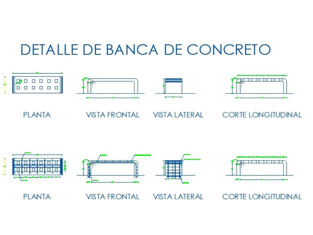 Bancas para parques y areas verdes.