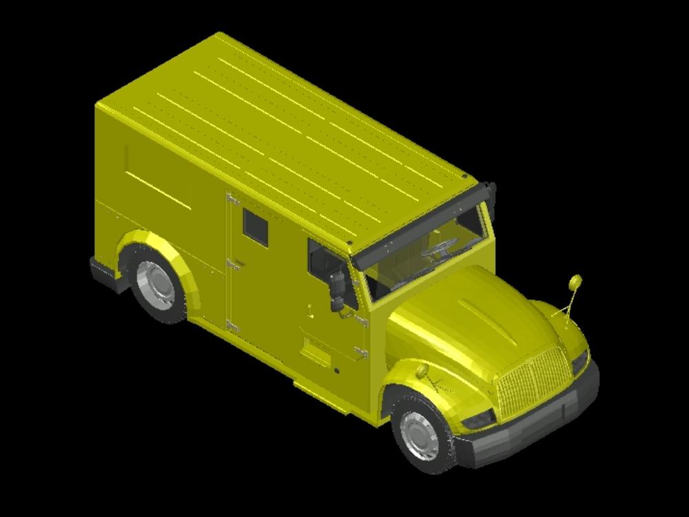 Camión blindado transporte de valores