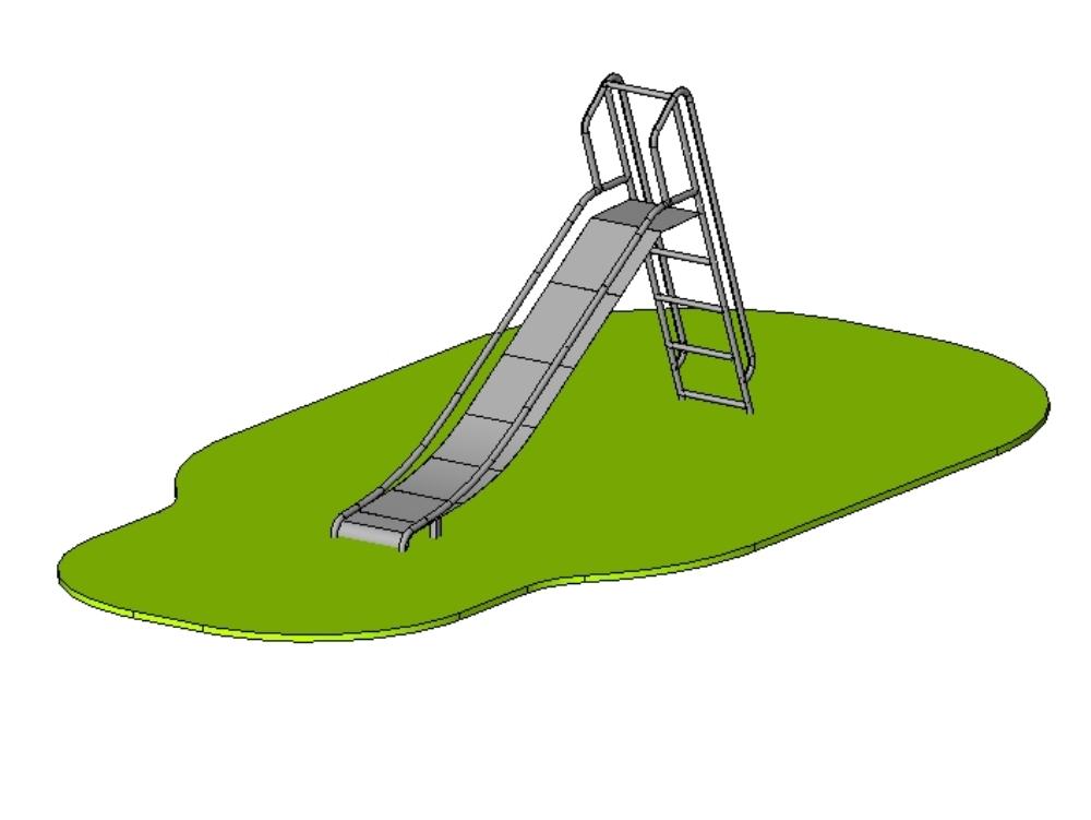 Slide - slide in stainless steel