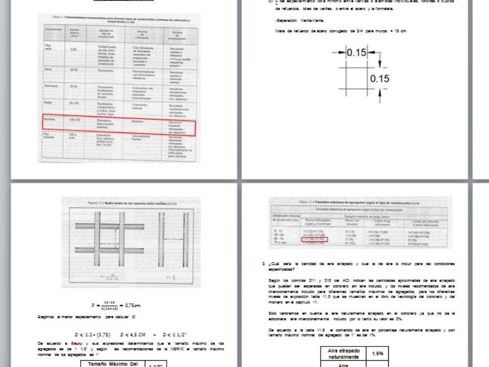 Diseño de mezclas de concreto colombia nsr10
