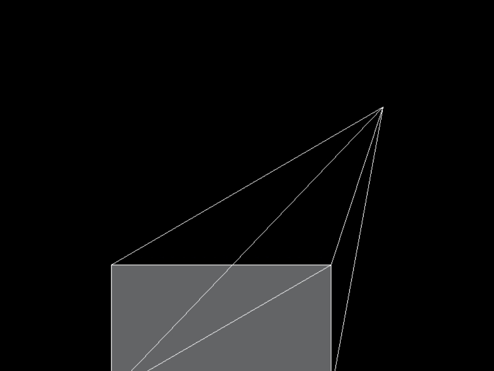 Isometric: oblique pyramid 3 dim