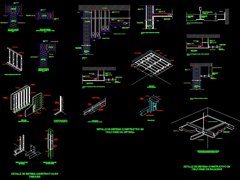Construction details of the drywall system
