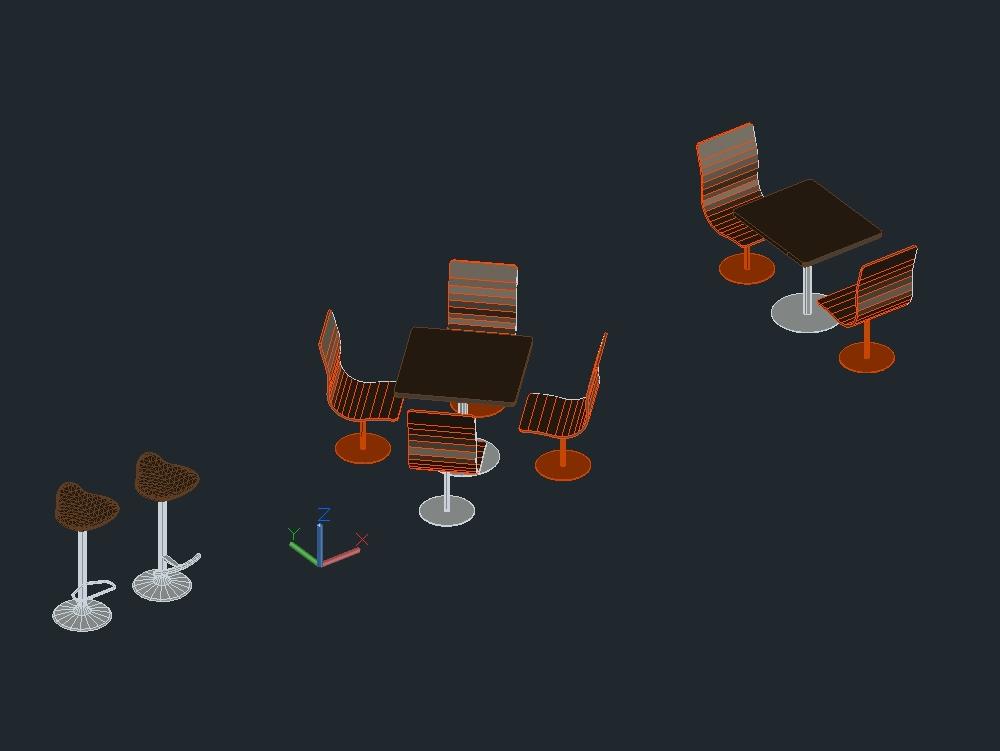 Mobiliario restaurant - juego de mesas